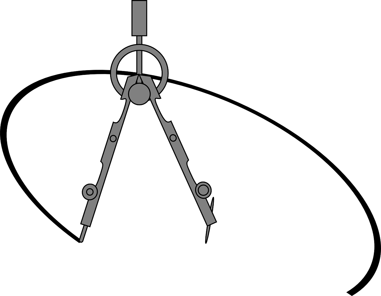 Compas para dibujo técnico